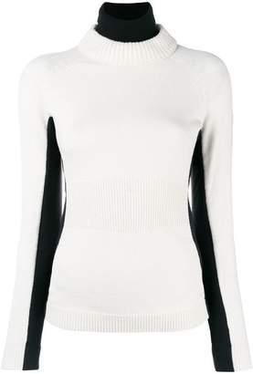 Moncler contrast colour jumper
