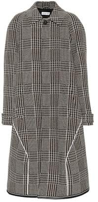 Balenciaga Houndstooth wool-blend coat