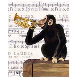Asstd National Brand Musical monkey Canvas Wall Art