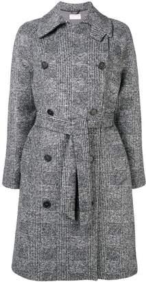 Kiltie plaid double breasted coat