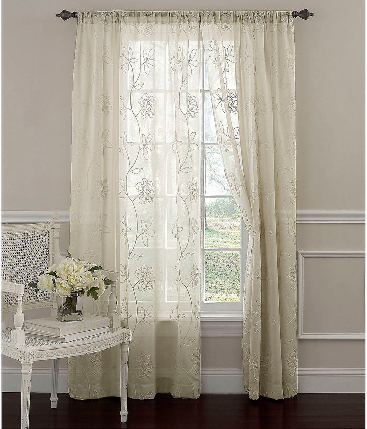 Laura Ashley Frosting Window Curtain Panels