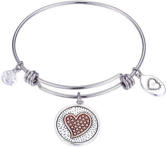 Footnotes A Friend Reaches For Your Hand But Touches Your Heart Clear Pure Silver Over Brass Round Bangle Bracelet