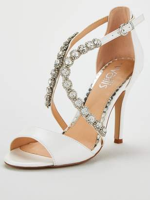 bd4e63229e7 Wallis Wow Jewelled Heeled Sandal - White