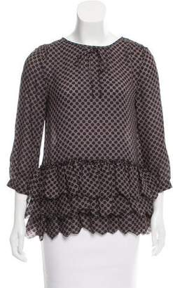 The Great Silk Printed Blouse