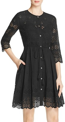 Theory Kalsingas Eyelet Lace Dress $475 thestylecure.com