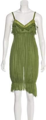 Galliano Sleeveless Silk Dress