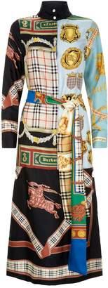 Burberry Silk Scarf Print Dress