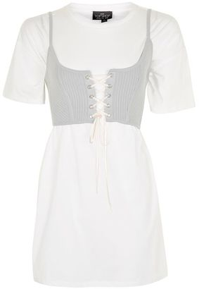 Petite corset t-shirt tunic