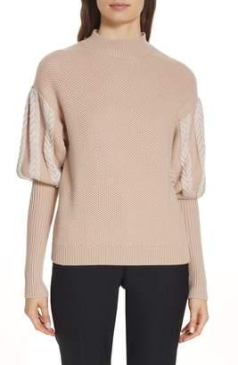 Jonathan Simkhai Knit Puff Sleeve Sweater