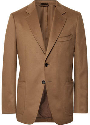 Tom Ford Camel O'Conor Slim-Fit Cashmere Blazer - Camel