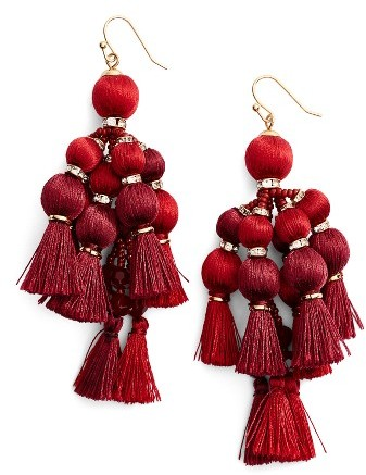 Kate Spade Women's Kate Spade New York Pretty Pom Tassel Drop Earrings