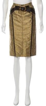 Just Cavalli Brocade Knee-Length Skirt