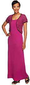 Liz Claiborne New York Regular Knit Maxi Dressw/ Shrug