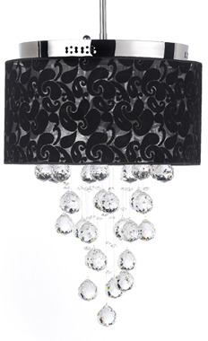 Bed Bath & Beyond Gallery Crystal Raindrop 6-Light Chandelier with Shade
