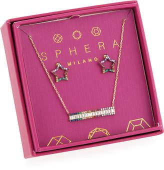 Sphera Milano Rainbow Crystal Earrings & Necklace Gift Set