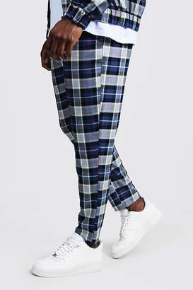 Big & Tall Tartan Check Smart Jogger