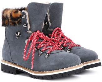 Mr & Mrs Italy Fur-lined suede ankle boots