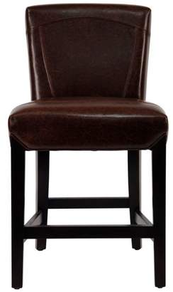 Safavieh Ken Counter Stool - Brown Leather