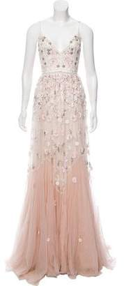 Needle & Thread Floral-Embellished Gown