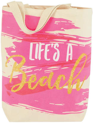 Mud Pie Life's-A-Beach Canvas Tote
