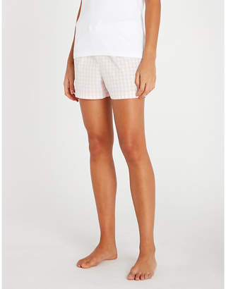 The White Company Gingham-patterned cotton pyjama shorts