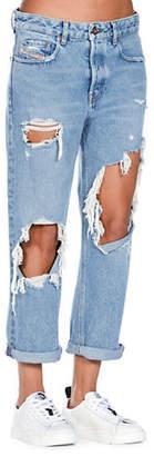 Diesel Aryel Distressed Straight Jeans