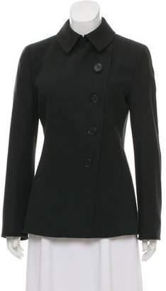 Akris Punto Single Breasted Wool Coat