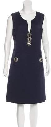 Fendi Embellished Sheath Dress