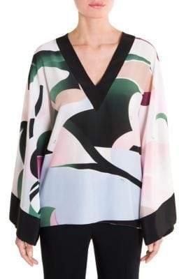 Emilio Pucci Kimono Sleeve Printed Blouse