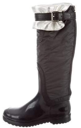 Dolce & Gabbana Knee-High Rain Boots