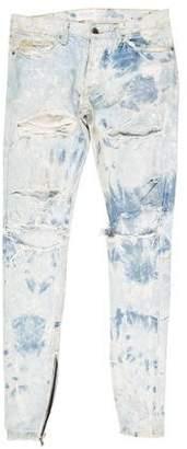 Fear Of God Distressed Splatter Skinny Jeans