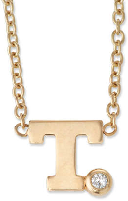 Chicco Zoe Pave Initial Pendant Necklace with 0.01 Diamond