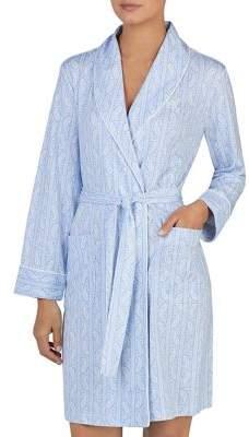Lauren Ralph Lauren Printed Long-Sleeve Short Robe