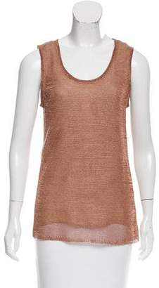 Reed Krakoff Sleeveless Metallic Top