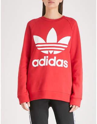 adidas Logo-print cotton-jersey sweatshirt