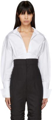 Jacquemus White and Black Striped La Chemise Paula Shirt