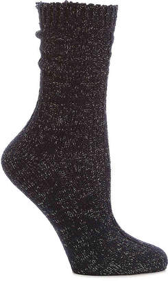 Mix No. 6 Lurex Cable Crew Socks - Women's