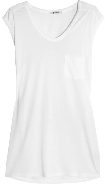 T by Alexander Wang - Classic Muscle Jersey T-shirt - White