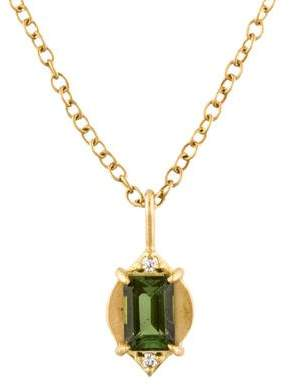 Jamie Wolf 18K Tourmaline & Diamond Marquis Pendant Necklace
