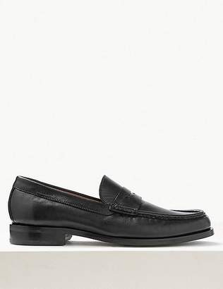 Marks and Spencer Leather Penny Slip-on Loafers