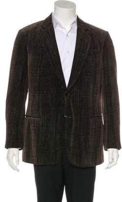 Armani Collezioni Patterned Two-Button Blazer