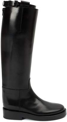 Ann Demeulemeester Blanche buckled strap knee boots