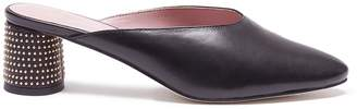 Pedder Red 'Zannia' stud heel leather mules