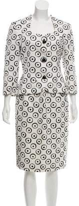 Givenchy Vintage Printed Skirt Suit