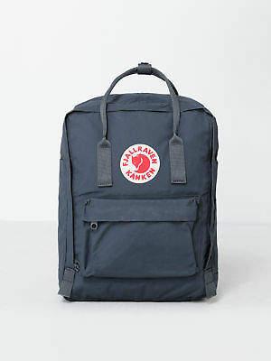 Fjallraven New Unisex Kanken Backpack In Graphite Bags