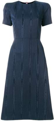 Thom Browne Raglan Fitted Pencil Dress In Moire Tracee