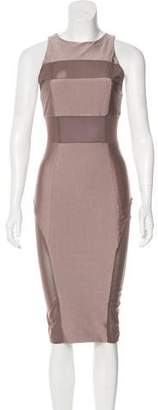Thomas Wylde Mesh-Paneled Midi Dress