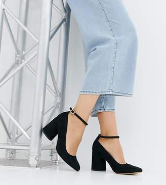 Asos DESIGN Wide Fit Shortbread heels