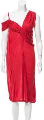 Lanvin Draped One-Shoulder Dress