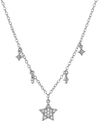 Aqua Sterling Silver Star Pendant Necklace, 16 - 100% Exclusive